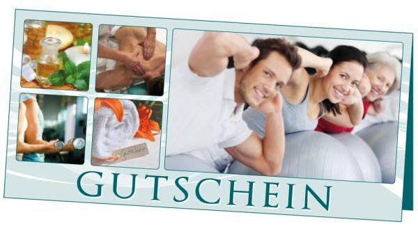 Gutschein Physio · Set á 25 Karten & 25 Umschlä