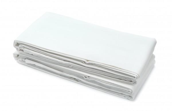 Fangolaken 250x150 cm, weiß, 100% Baumwolle, Laken