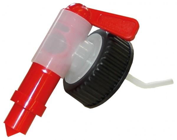 Auslaufhahn für Kanister 5L, 10L, DIN51 Mündung, Dosierhilfe, 1 Stück