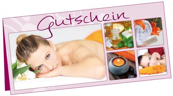 Gutschein Wellness · Set á 25 Karten & 25 Umschl
